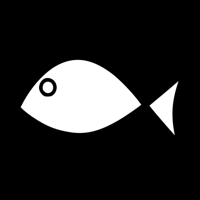 Fish outline clip art. Hook clipart simple