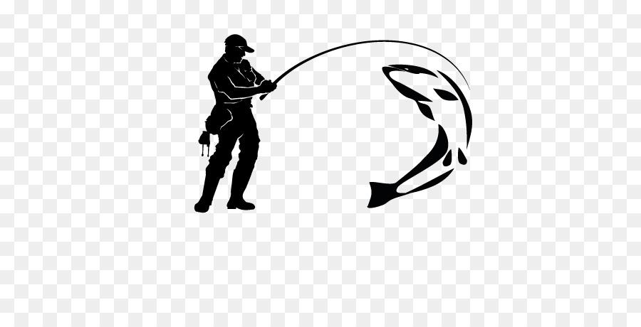 Fishing clipart sport fishing. Cartoon white black transparent