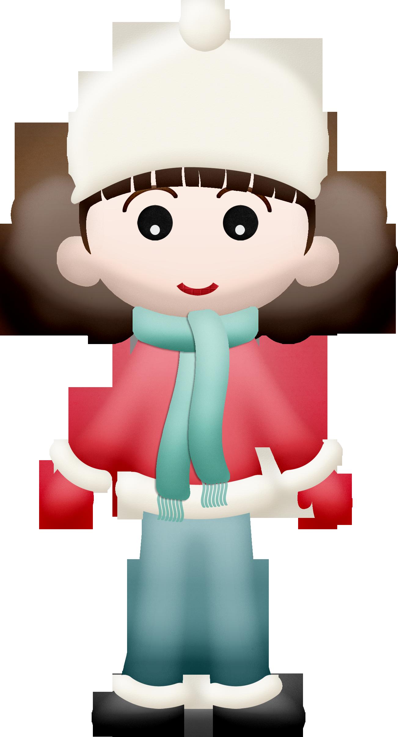 Little girl clip art. Winter clipart jersey