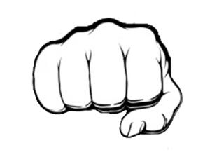 Karate . Fist clipart