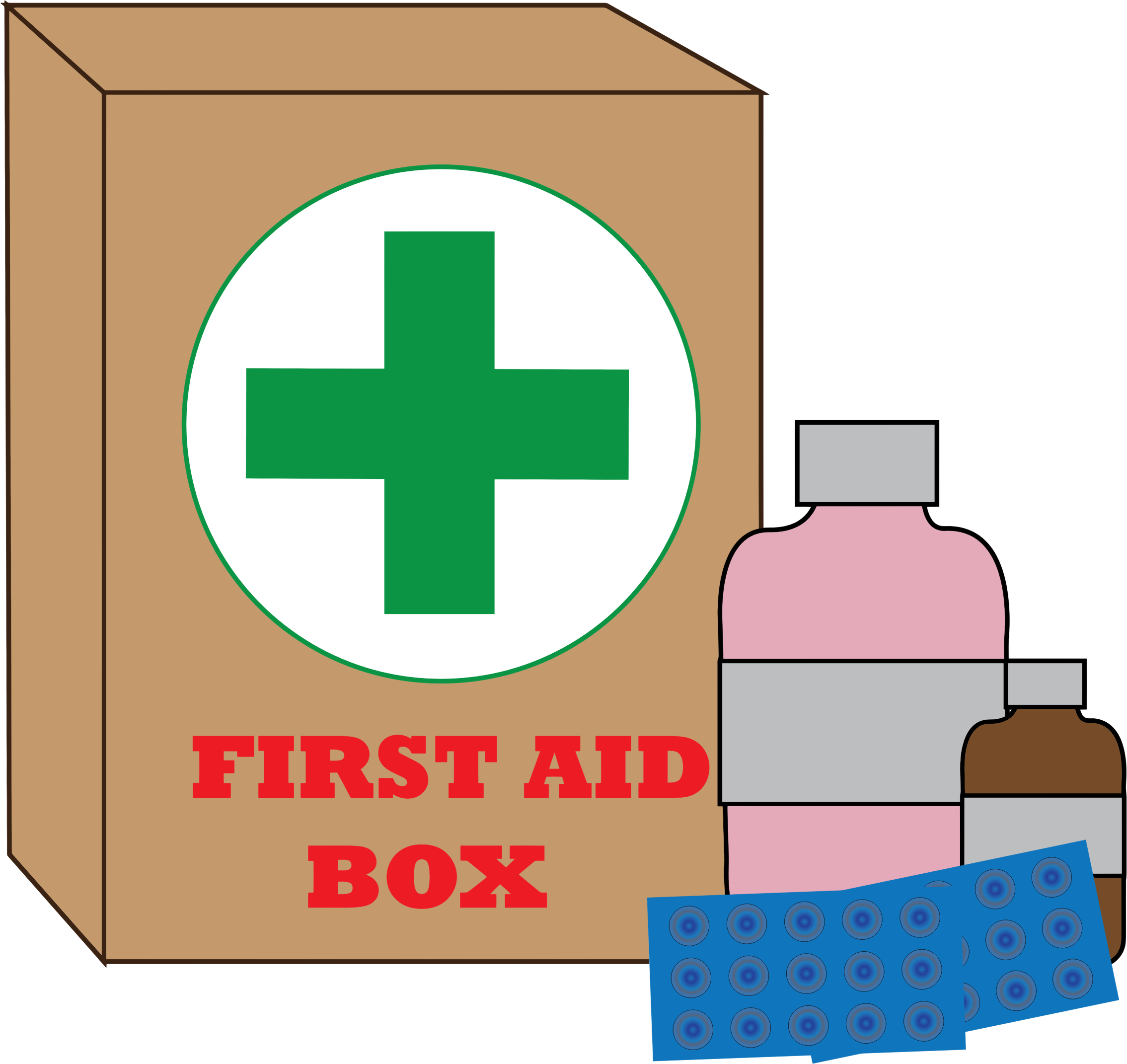 collection of first. Fist clipart aid kit