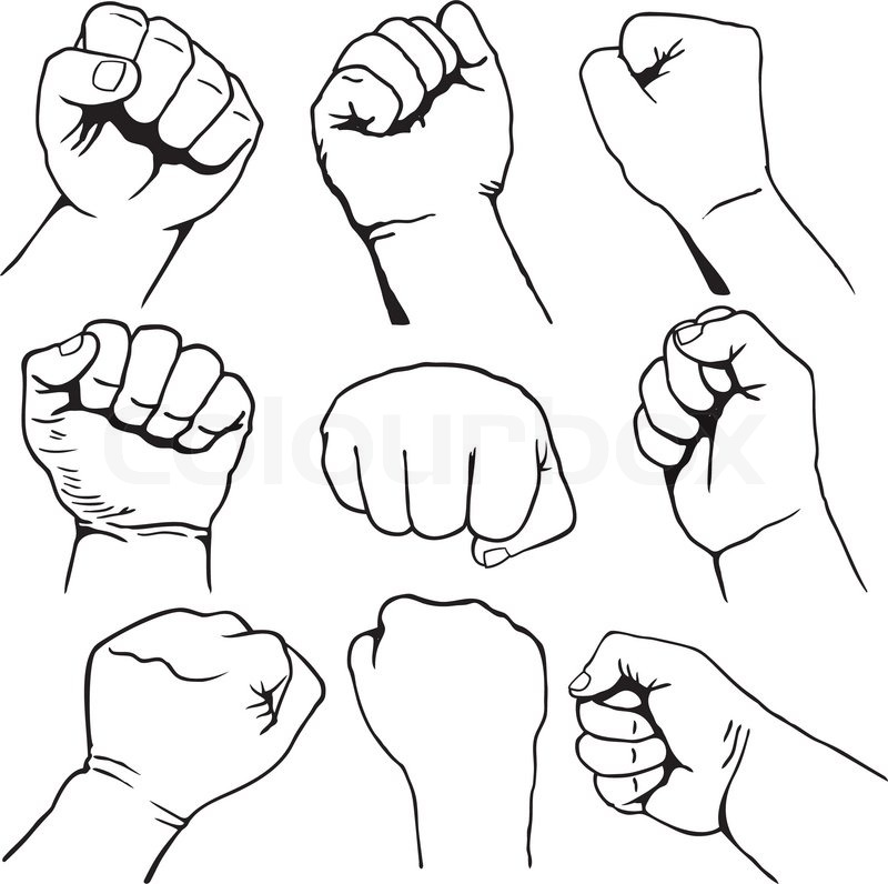Fist clipart air drawing. Pictures of free download