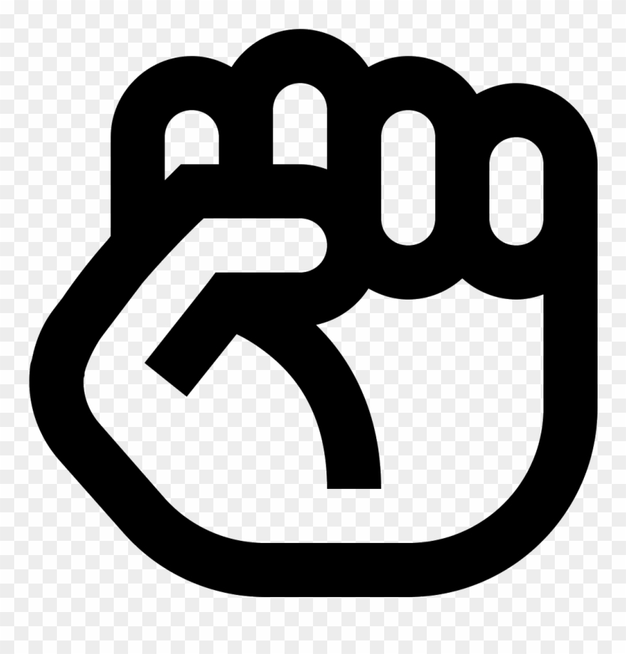 Clenched graham school character. Fist clipart air icon