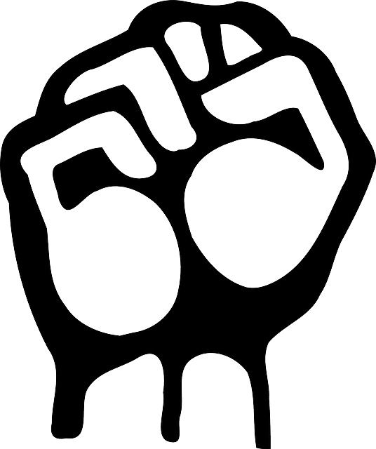 Fist clipart air icon. Black right outline hand