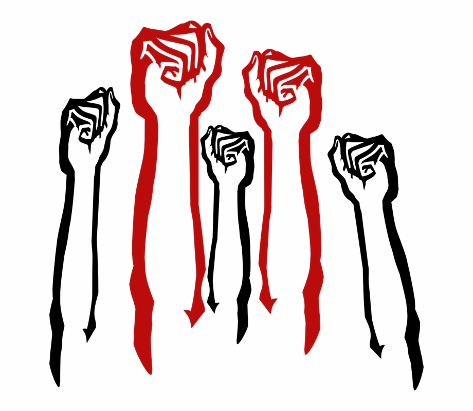 Fist clipart air sketch. Protest in the transparent