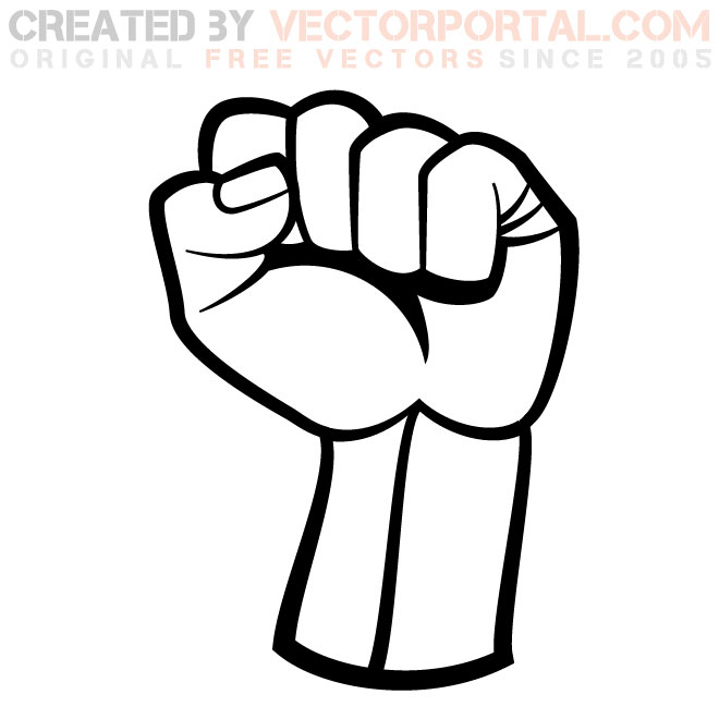 Fist clipart back fist. Of kid clipartbarn