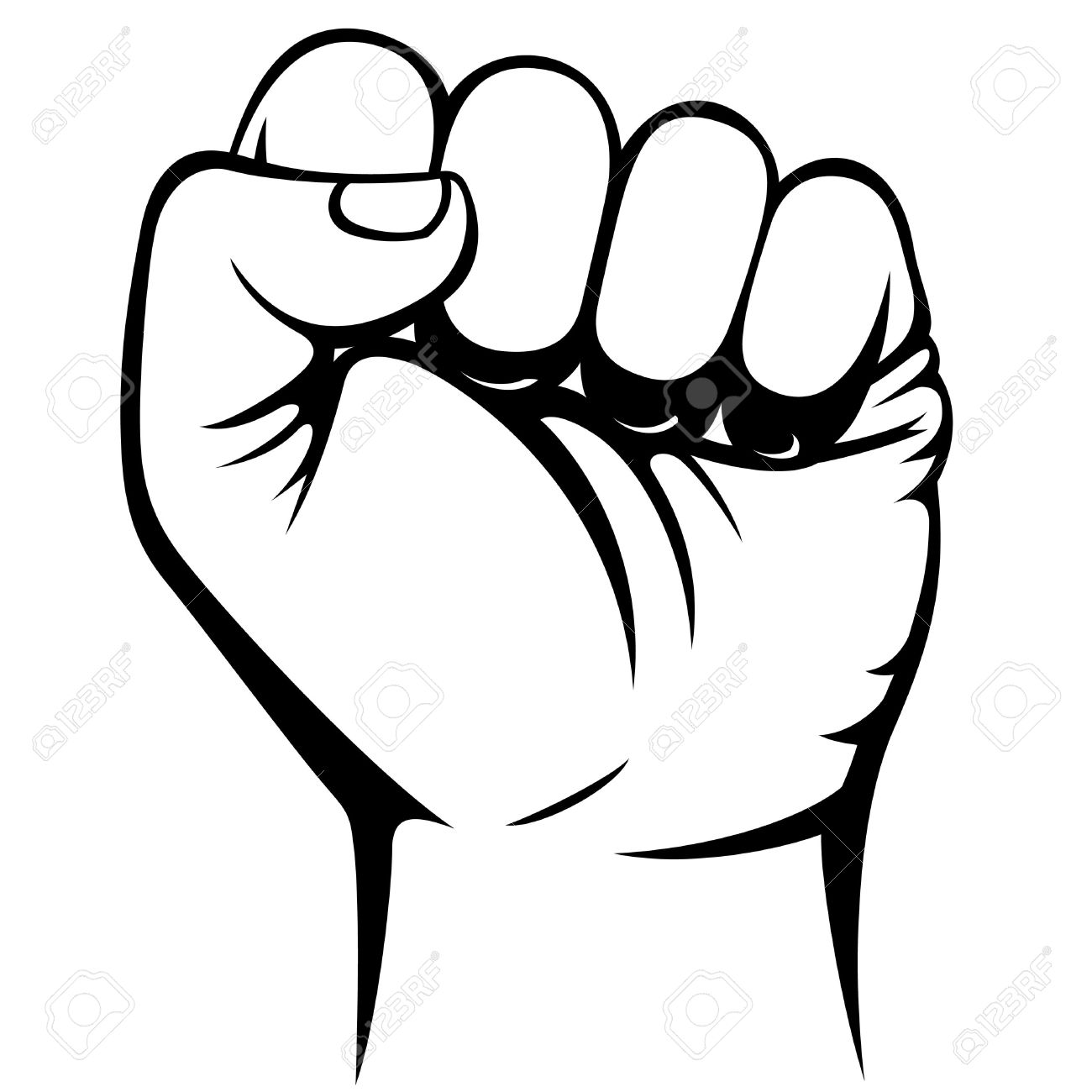 Free download best on. Fist clipart black and white