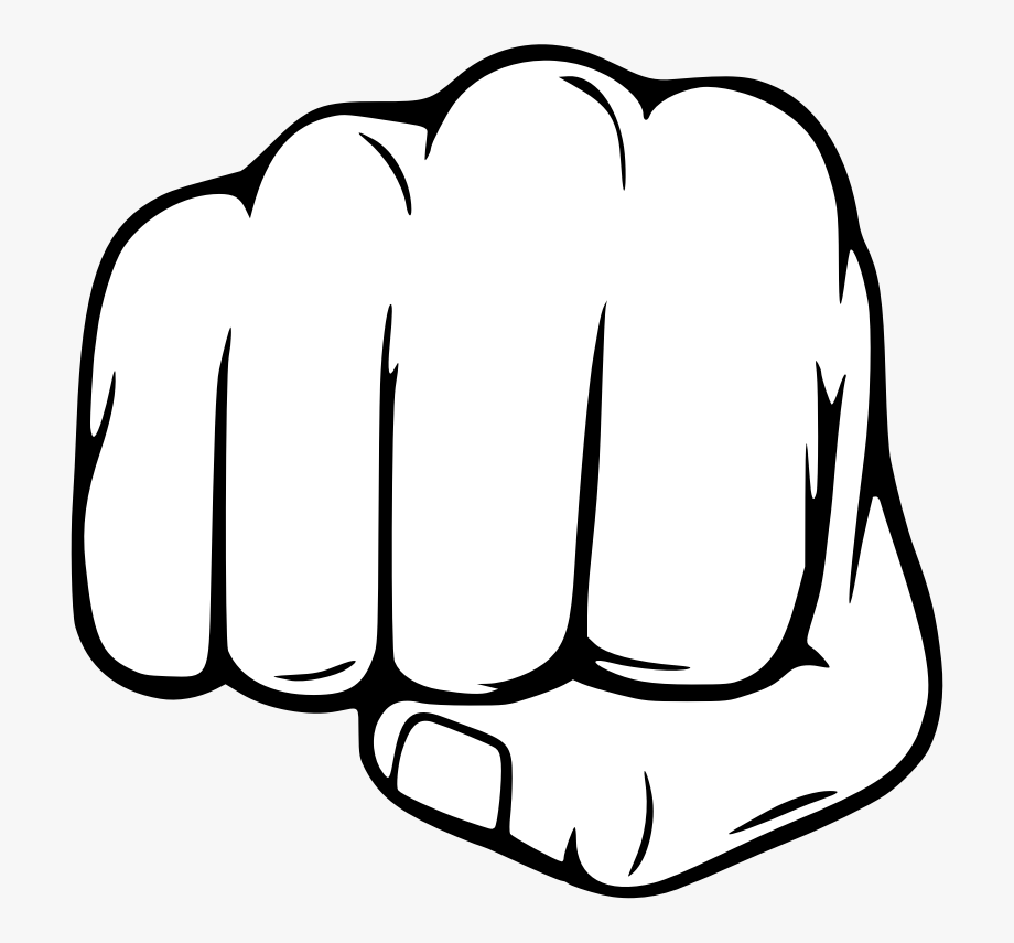 Free cliparts on clipartwiki. Fist clipart black and white