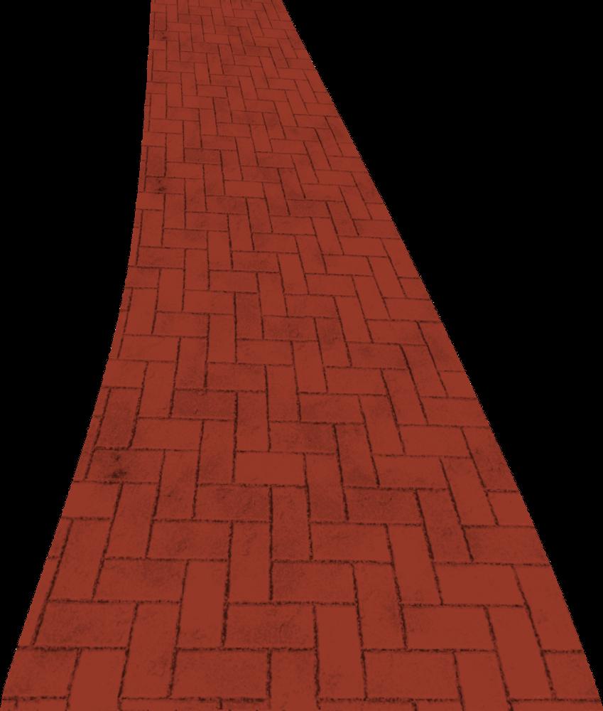Trail clipart curve road. Modern clip art brick
