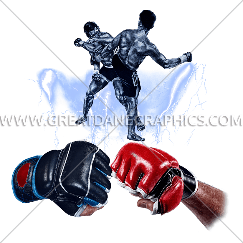 Mma fists production ready. Fist clipart easy