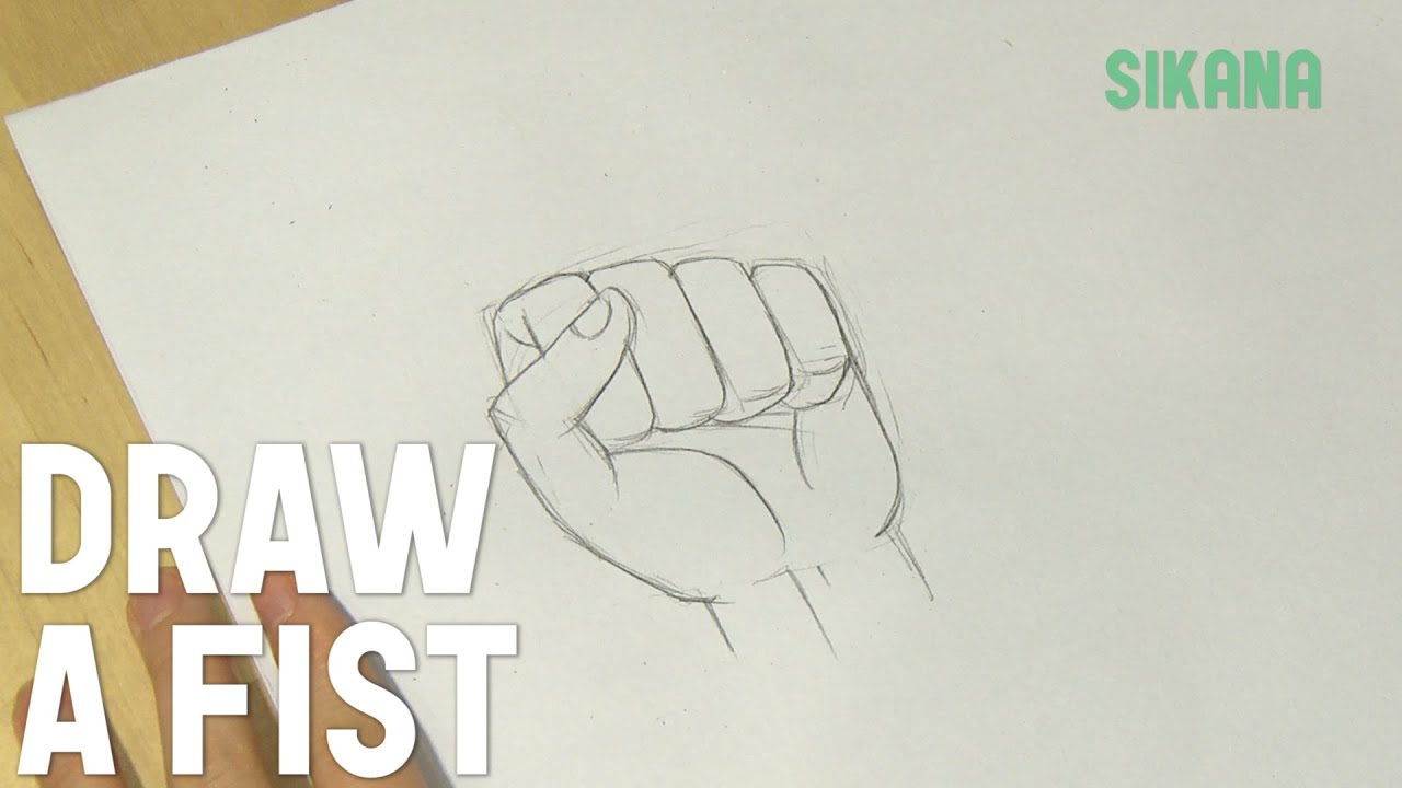 Fist clipart easy. How to draw a