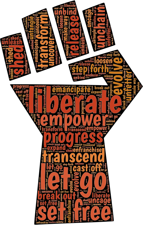 Fist clipart empowerment. Typography medium image png