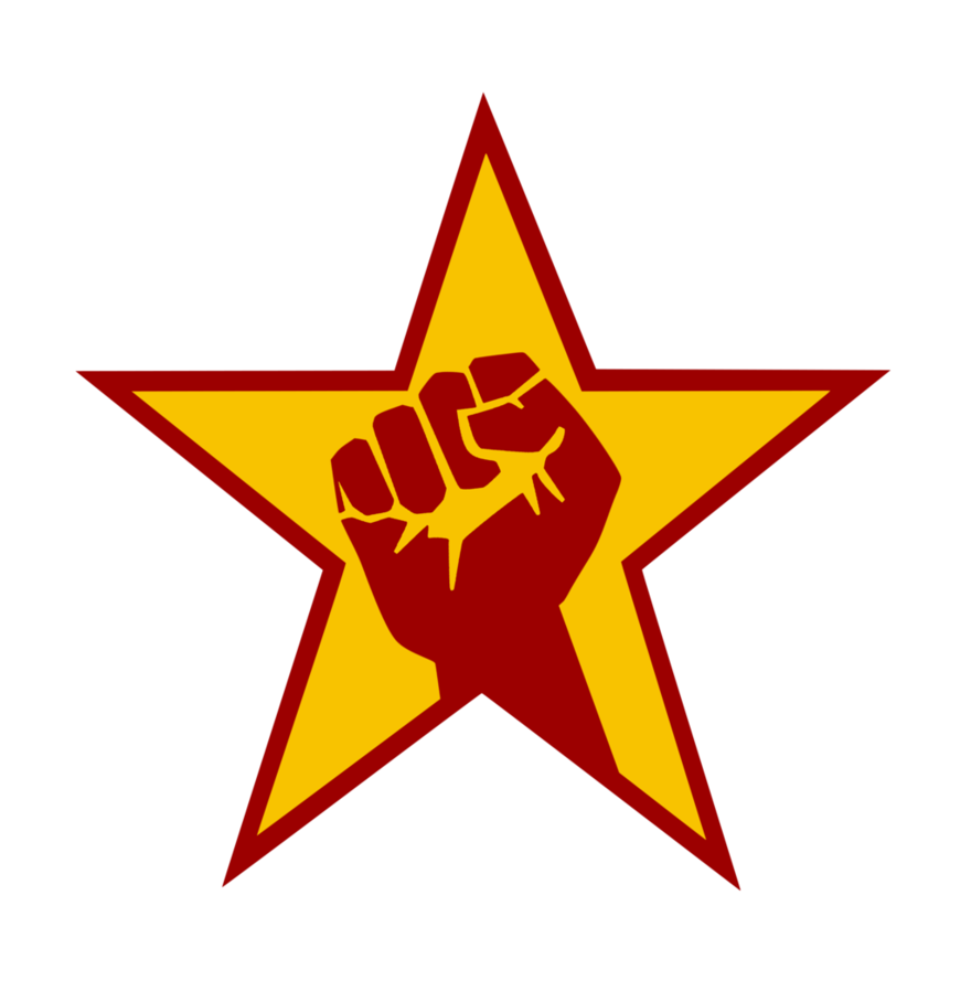 Fist clipart equality. And star emblem by
