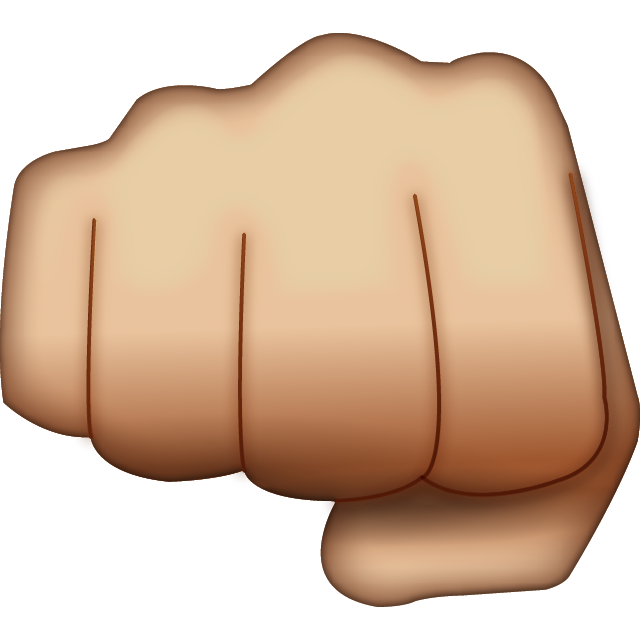 Download hand emoji icon. Fist clipart fist pump