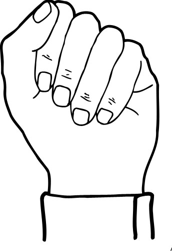 Fist clipart hand close. Hands closed