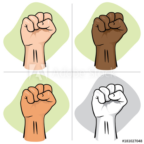 Illustration depicting the of. Fist clipart hand close