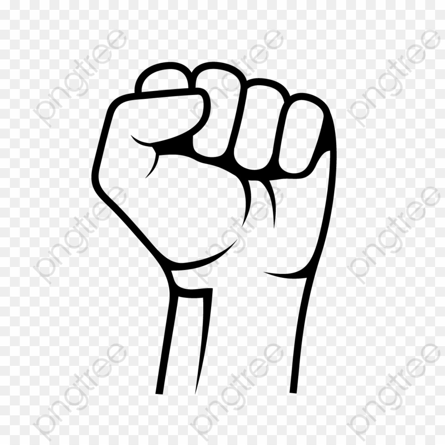Transparent png raised download. Fist clipart hand fist