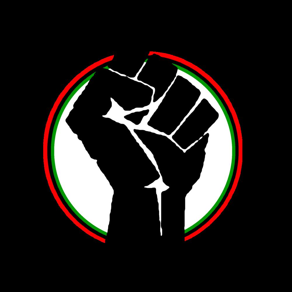 Black student center bscbiggerfistoutlinedletterspng. Fist clipart hapkido