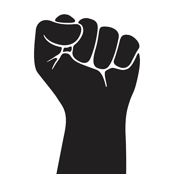 Black the dreaded one. Fist clipart militant