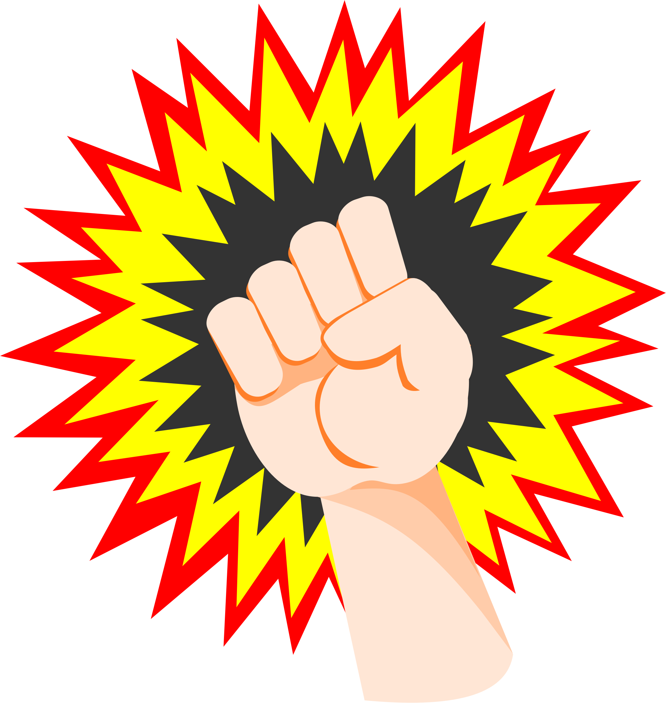 Fist clipart pow. Clenched big image png