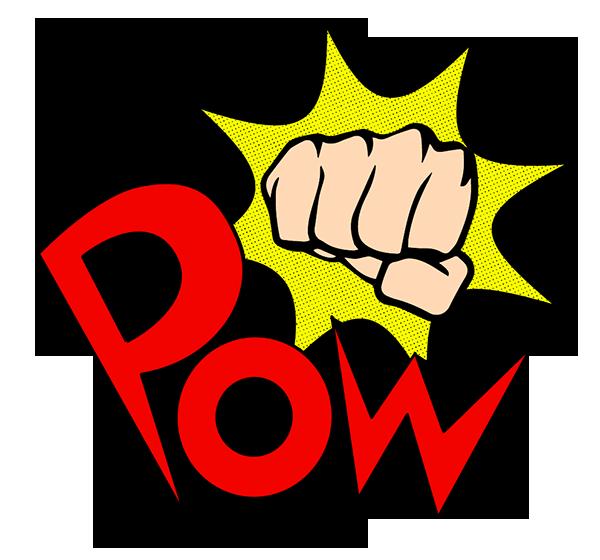 fist clipart pow