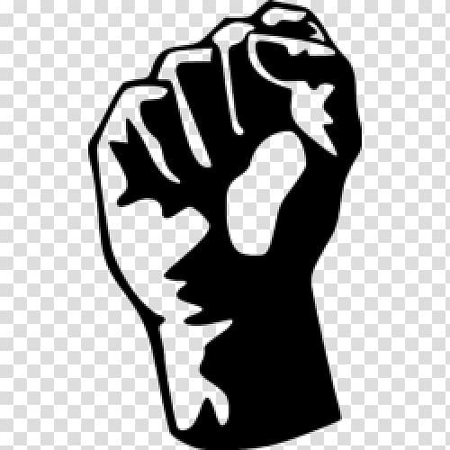 Raised black symbol transparent. Fist clipart power to person