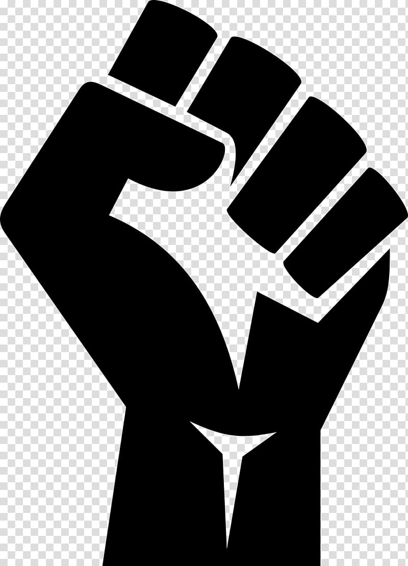 Fist clipart power to person. Hand illustration raised black