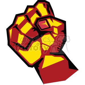 Uprising resistance illustration art. Fist clipart rebellion