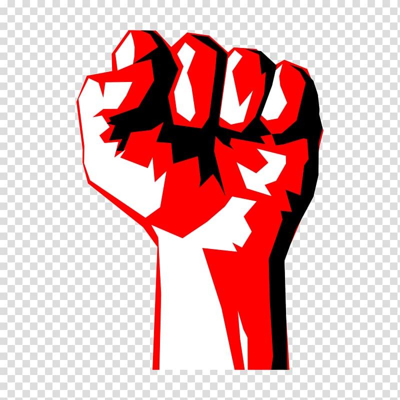 Raised laborer fest transparent. Fist clipart red