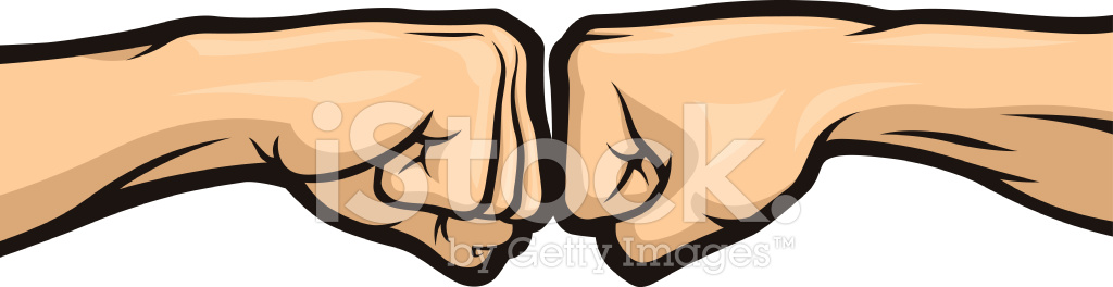 Fist clipart side view. Bump stock vector freeimages