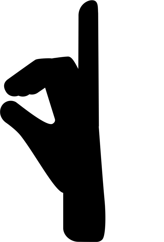 Hand fingers posture from. Fist clipart side view