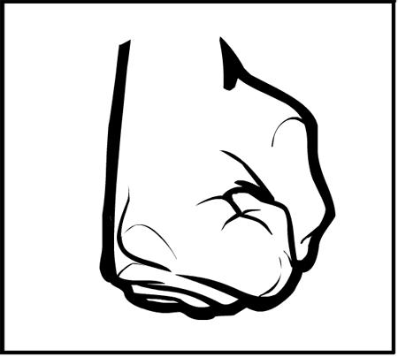 Hm heromachine character portrait. Fist clipart side view