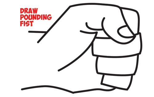 How to draw fists. Fist clipart sideways