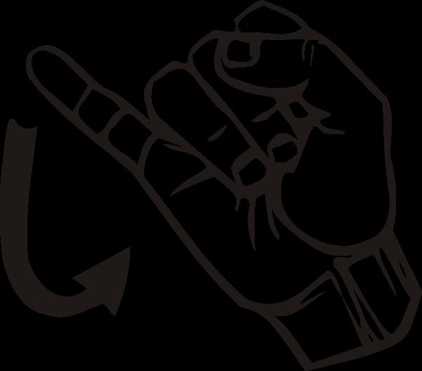Thumb clipart sign language. J clip art at