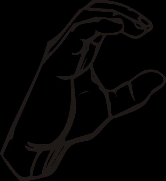 Thumb clipart sign language. C clip art at