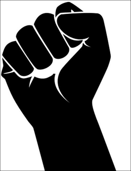 Fist clipart silhouette. Clip art library