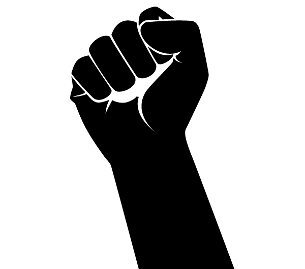 Free illustrator vector image. Fist clipart silhouette