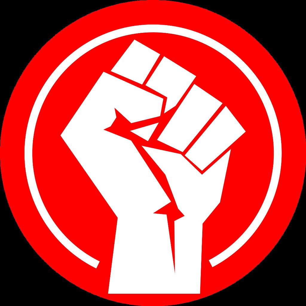 Communism marxism prc redguard. Fist clipart socialism