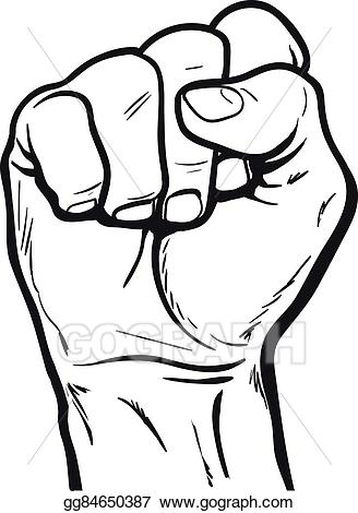 Fist clipart strength. Vector hand shows the