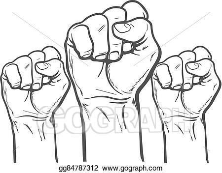 Vector art as a. Fist clipart strength