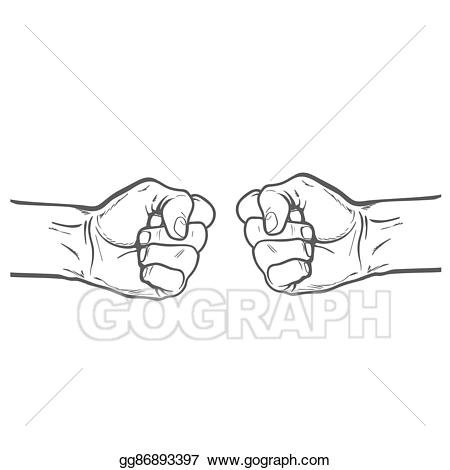Fist clipart strength. Drawing as a symbol