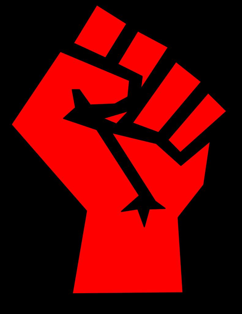Fist clipart svg. File red stylized wikipedia