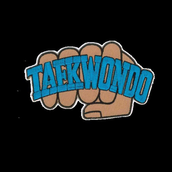 tkd patch w. Fist clipart taekwondo