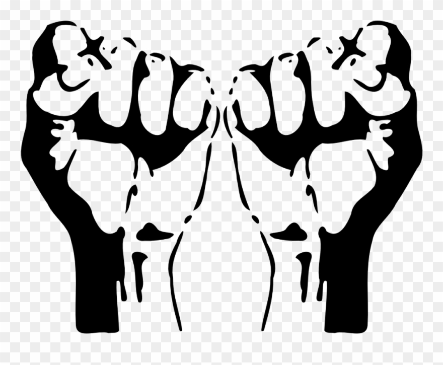 Fists omfg pawnch raised. Fist clipart two