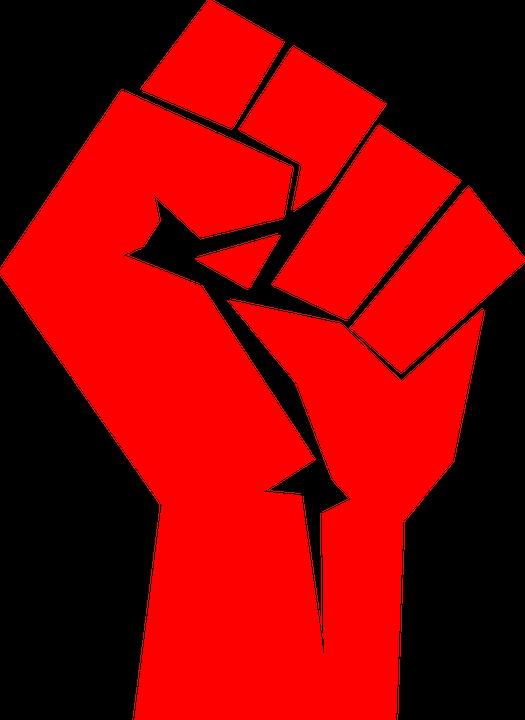 Fist clipart vector. Raised union free graphic