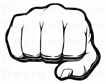 Svg etsy . Fist clipart vector