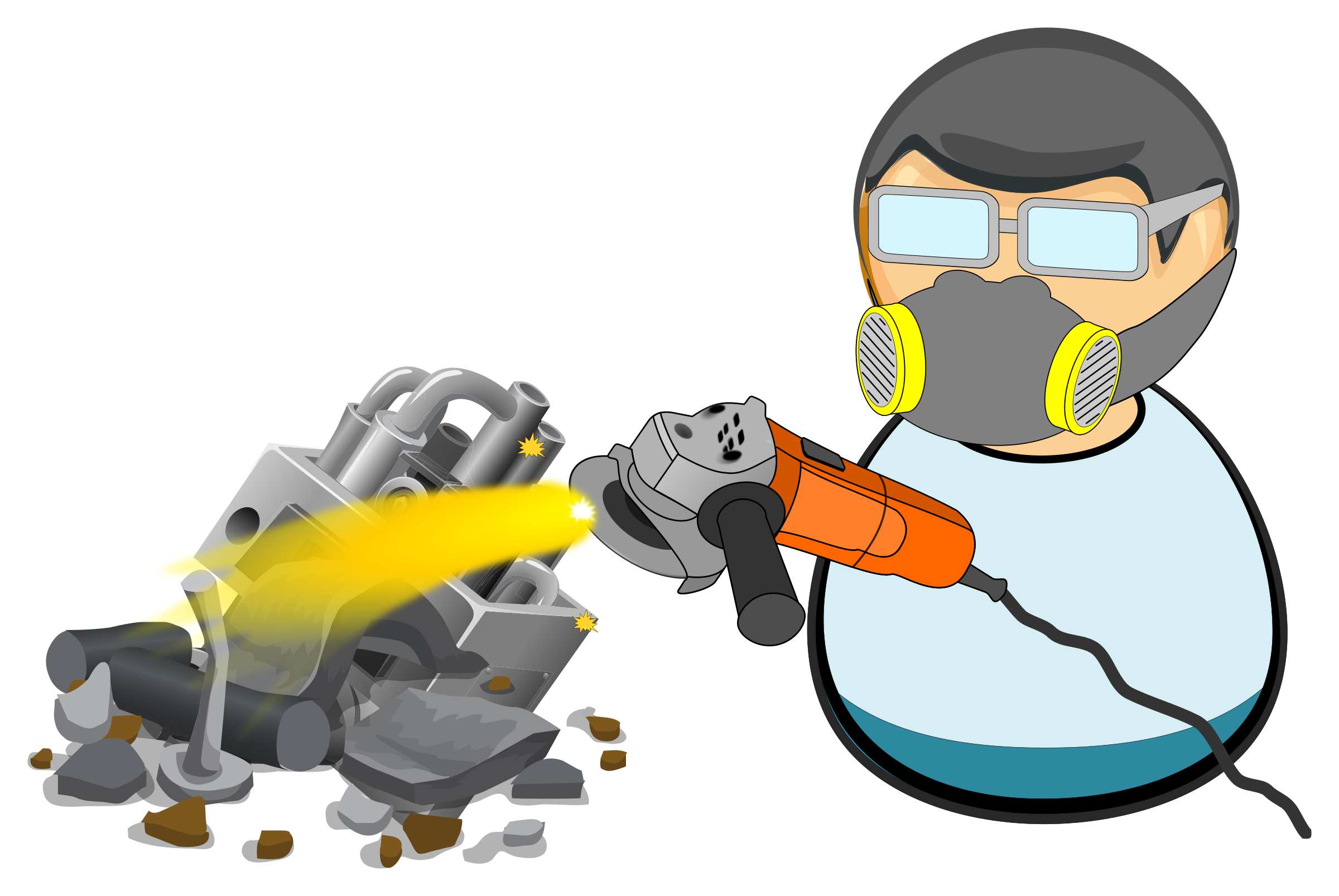 Scrapyard icons png free. Fist clipart worker