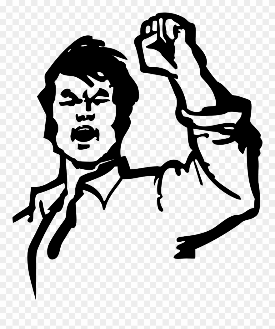 Raised union png image. Fist clipart worker