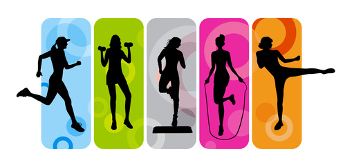 Fitness clipart. Group