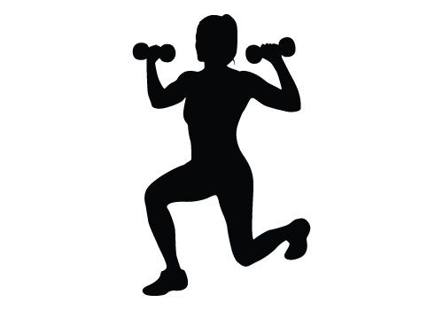 Silhouette vector download free. Fitness clipart